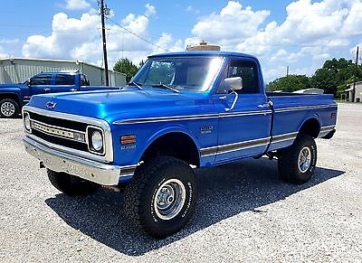 1970 Chevrolet C-10  1970 Chevrolet K10 Short Wide Bed 4x4 Pickup 4-speed RARE