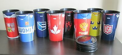 PEPSI World Cup of Hockey - Set of 8 Team Cups with Lids