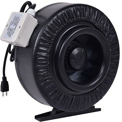 "New 4"" 6"" 8"" Inline Duct Fan Hydroponics Exhaust Blower Air Fresh Move Cooling"