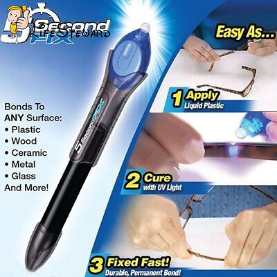 DIY 5 Second Glass Welding Compound Glue UV Light Quick Fix Liquid Repair Tools