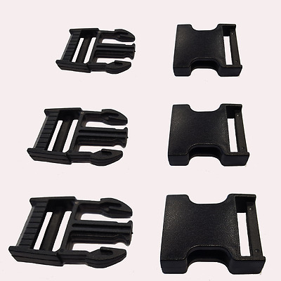 Black Buckle and Slider 20 25 40 50mm Webbing Strap Plastic Bag Clasp Cheapest