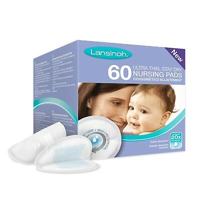 Lansinoh Disposable Nursing Pads (60 Pieces) Pack of 60 NEW