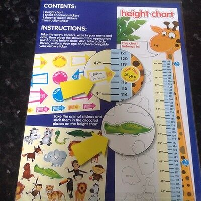 kids height chart with over 40 stickers fun and educational