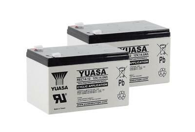 2x Yuasa 14Ah Mobility Scooter / Ride on Toy /Electric Power Tool Battery