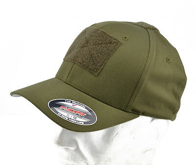 "Flexfit® brand Cappello / Cap ""Tactical"" Olive with VELCRO® brand hook"