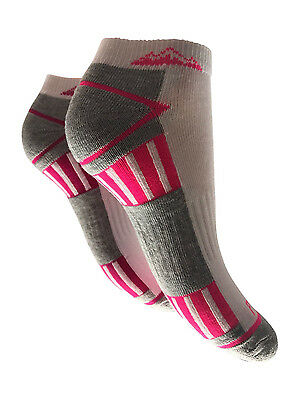 6/&12 PAIRS WOMENS TRAINER SOCKS SPORTS ANKLE CUSHIONED SOLE HEEL TOE SIZE 4-8