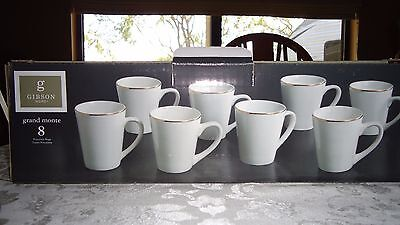 Coffee Cups set of 8, Gibson Home Collection new in box