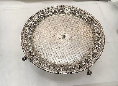Kirk & Son Sterling Repousse Footed Salver