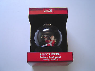 Coca-Cola Holiday Radiance Illuminated Glass Ornament NIB