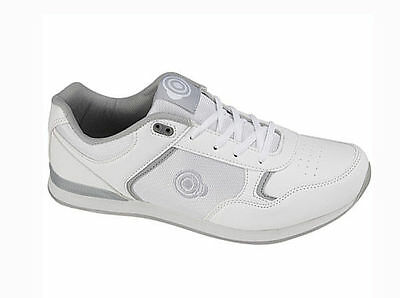 Mens DEK Bowls White Bowling Sports Lace Up Shoes Trainers