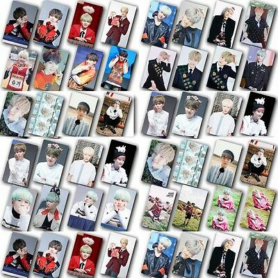 Lot of & 10Pcs/ Set KPOP Bangtan Boys SUGA HD Photo card Card Sticker