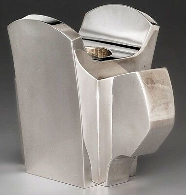 Modernist Sterling Candle Holder A Damian Garrido