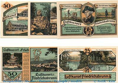 6 x Notgeld Friedrichsbrunn , mit Signatur , german emergency money kfr/unc komp