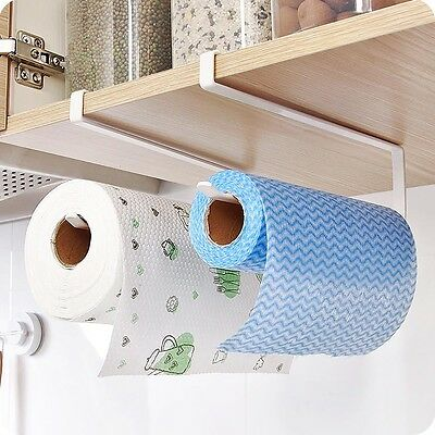 Bathroom Toilet Metal Paper Towel Holder Roll Reserve Paper Shelf Hanging Rack Q
