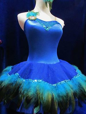 Feather Peacock 2017 Tutu Pleated Costume Ballet Curtain Call ASM