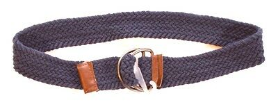 NEW Boys Navy Blue Woven Fabric D-Ring Buckle Fastening Belt Size S M L A66