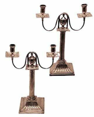 Silver Pair of Candelabra
