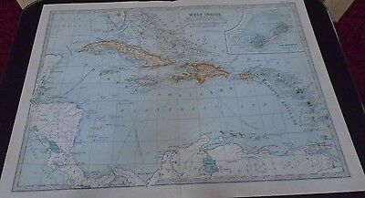 Map 1903 West Indies Britannica