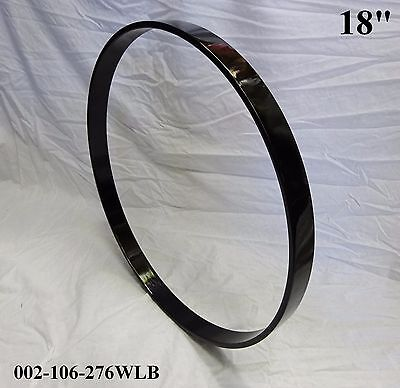 """18"""" Maple Bass Drum Hoop/Ring/Rim (Rounded Front) Lacquered-BLACK 002-106-276WLB"""