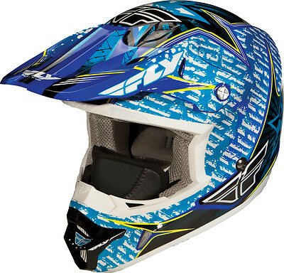 Fly Racing Aurora Snow Adult Cold Weather MX Helmet [Blue,2X-Large]