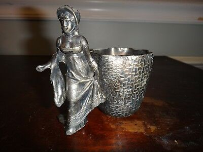 Kate Greenway Figural Hammered Derby Quadruple Plate Toothpick Holder 2303