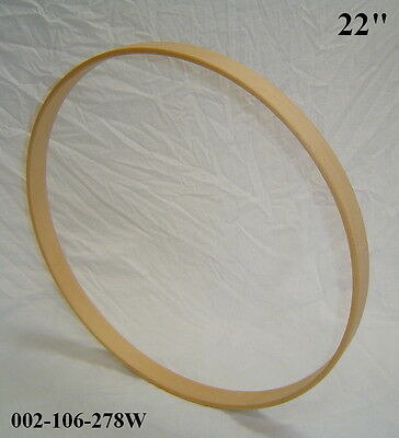 "22"" Maple Bass Drum Hoop/Ring/Rim (Rounded Front) Unfinished 002-106-278W"