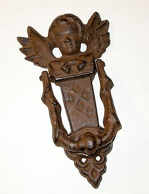 Antique Cast Iron Door Knocker--Very Clean and Functioning