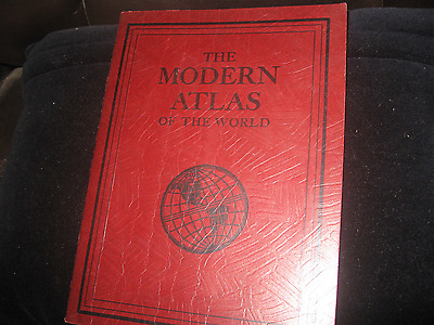 Vintage 1940c RAND McNALLY MODERN ATLAS of the WORLD  all FULL PAGE MAPS