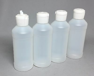 8 oz HDPE Round Bottle with Flip Top Dispenser Pkg/4 FREE SHIPPING!