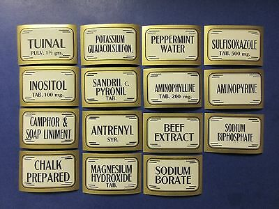 15+Old Pharmacy-Apothecary-Medicine Bottle Labels=Vintage Ephemera Lot=Nice