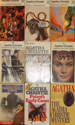 Lot of 9 Agatha Christie Hercule Poirot Mysterious Affair At Styles Sad Cypress