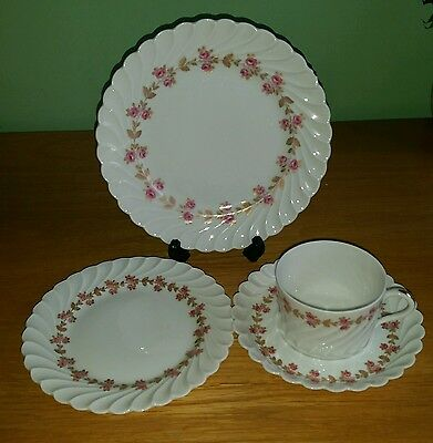 Haviland Limoges, Plaisance. Cup, saucer and side plates.