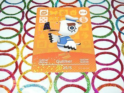 Amiibo Animal Crossing Card GULLIVER no. 314 Top