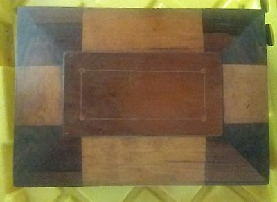 Antique 19th Century Shaker Sewing Jewery Box with Original mirror and lining