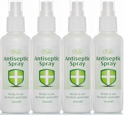 Dr J's Antiseptique Spray prêt à utiliser No Touch Application 100ml (LOT DE 4)