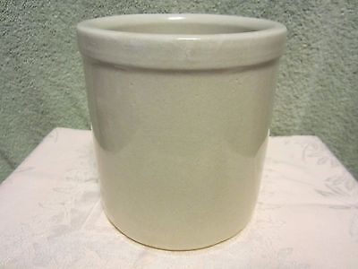 """R.R.P. Ransbottom Co. Stoneware Jar Crock  5.5"""" Tall Made in Roseville Ohio"""