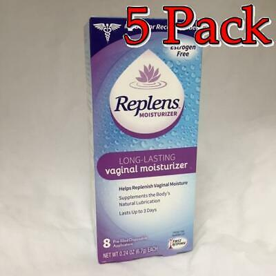 Replens Long Lasting Vaginal Moisturizer, 8ct, 5 Pack 022600001041S1127