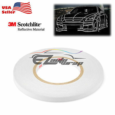 3M Silver Reflective Tape Safety Self Adhesive Striping Sticker 150FT Roll 1Cm