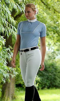 PEI (Premier Equine) Teque-style Ladies Royale Competition Shirt Blue Premier Eq