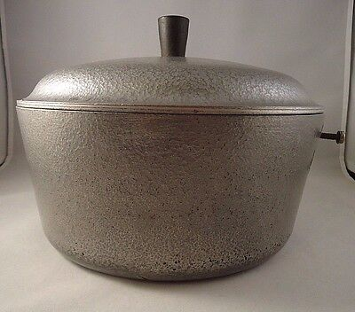 Club Hammered aluminum 3 Qt sauce pan pot w/ lid Missing Handle Vintage GUC