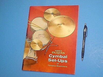 1969 Avedis Zildjian Cymbol Set-Ups Of Famous Drummers Catalog 44 Pages