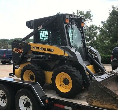 2006 New Holland L170 Skid Steer Loader Cab Auxillary Hydraulics (170 Hours)