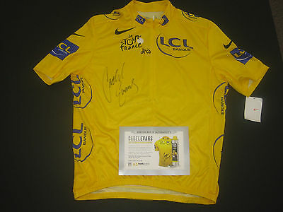 Cadel Evans Signed Tour De France Limited Edition Yellow Jersey Official Coa