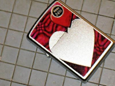 New Ols Valentine Heart Love Your Lady ZIPPO Flame Windproof Lighter USA Click