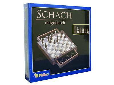 SCHACH MAGNETIC WOODEN CHESS SET - 30 cm - Desktop School Educational Game