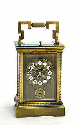 French Style Petite Sonnerie Striking Quarter Repeater Brass Carriage Clock