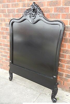 French Bed Head Single Black New Antique Reproduction