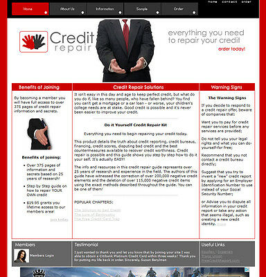 Credit Repair Website For Sale Comes w/ All Software And Ebooks Not A Affiliate
