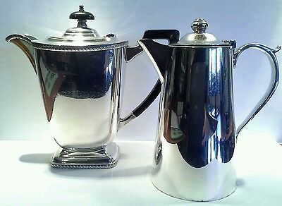 2 xVintage Silver Plated Coffee Serving Pots