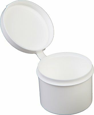 Consolidated Plastics Hinged Lid Vial Poly-Con Container, 1 oz., White, 100